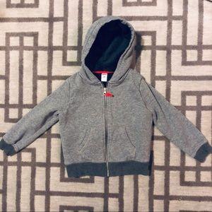 Carters Gray Jacket with fleece inside size 5